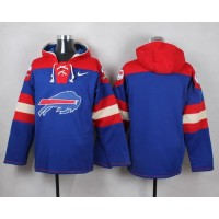 Nike Bills Blank Royal Blue Player Pullover NFL Hoodie