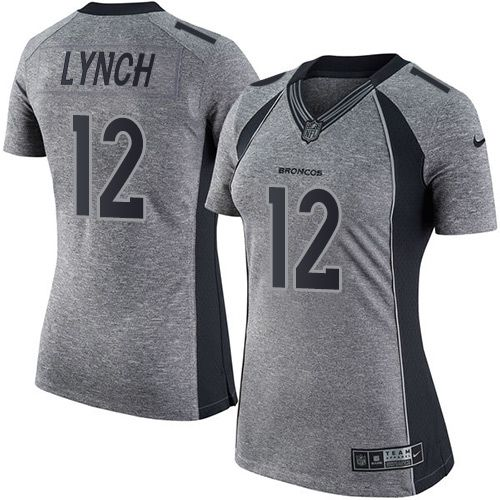 Cheap Nike Broncos #12 Paxton Lynch Gray Women's Stitched NFL Limited  for cheap