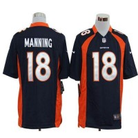 Nike Broncos #18 Peyton Manning Navy Blue Alternate Men's Stitched NFL Game Jersey
