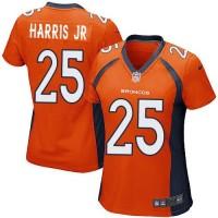 Nike Broncos #25 Chris Harris Jr Orange Team Color Women's Stitched NFL New Elite Jersey
