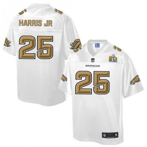 new concept 17576 306ee Nike Broncos  25 Chris Harris Jr White Men s NFL Pro Line Super Bowl 50  Fashion Game Jersey