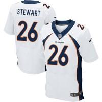 Nike Broncos #26 Darian Stewart White Men's Stitched NFL New Elite Jersey