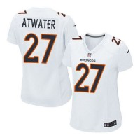 Nike Broncos #27 Steve Atwater White Women's Stitched NFL Game Event Jersey