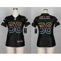 Nike Broncos #58 Von Miller Black Women's NFL Fashion Game Jersey