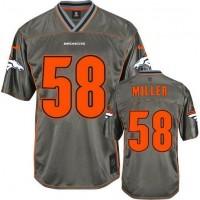 Nike Broncos #58 Von Miller Grey Youth Stitched NFL Elite Vapor Jersey