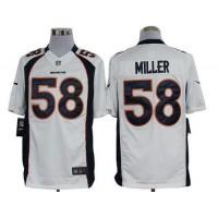 Nike Broncos #58 Von Miller White Men's Stitched NFL Limited Jersey