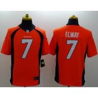 Nike Broncos #7 John Elway Orange Team Color Men's Stitched NFL New Limited Jersey