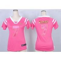 Nike Broncos #7 John Elway Pink Women's Stitched NFL Elite Draft Him Shimmer Jersey