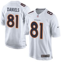 Nike Broncos #81 Owen Daniels White Youth Stitched NFL Game Event Jersey