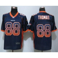 Nike Broncos #88 Demaryius Thomas Navy Blue Alternate Men's Stitched NFL Elite Drift Fashion Jersey