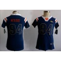 Nike Broncos #94 DeMarcus Ware Navy Blue Women's Stitched NFL Elite Draft Him Shimmer Jersey