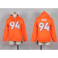 Nike Broncos #94 DeMarcus Ware Orange Youth Player NFL Hoodie