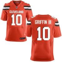Nike Browns #10 Robert Griffin III Orange Alternate Men's Stitched NFL New Elite Jersey