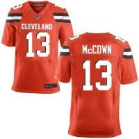 Nike Browns #13 Josh McCown Orange Alternate Men's Stitched NFL New Elite Jersey