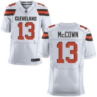 Nike Browns #13 Josh McCown White Men's Stitched NFL New Elite Jersey