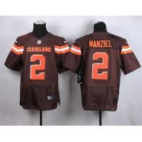 Nike Browns #2 Johnny Manziel Brown Team Color Men's Stitched NFL New Elite Jersey
