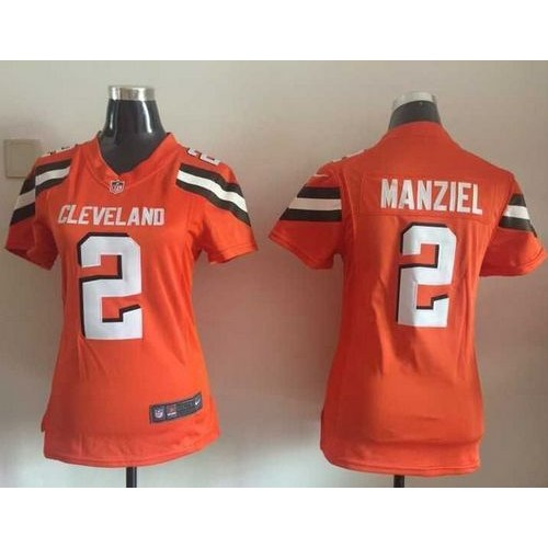 84bdfde3367 Nike Browns  2 Johnny Manziel Orange Alternate Women s Stitched NFL New Elite  Jersey