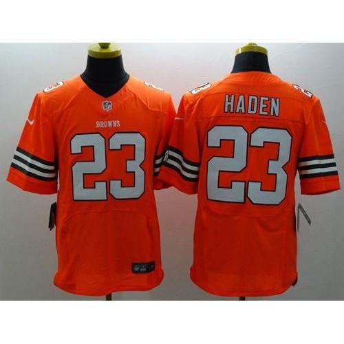 Nike Browns  23 Joe Haden Orange Alternate Men s Stitched NFL Elite Jersey 1ce482c5d