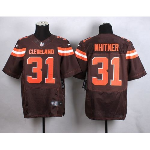 Nike Browns  31 Donte Whitner Brown Team Color Men s Stitched NFL New Elite  Jersey 58d6cf727