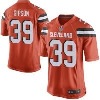 Nike Browns #39 Tashaun Gipson Orange Alternate Men's Stitched NFL New Elite Jersey