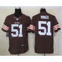 Nike Browns #51 Barkevious Mingo Brown Team Color Men's Stitched NFL Elite Jersey