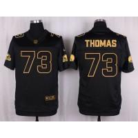 Nike Browns #73 Joe Thomas Black Men's Stitched NFL Elite Pro Line Gold Collection Jersey