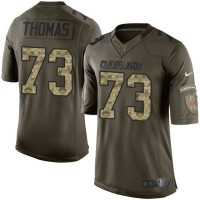 Nike Browns #73 Joe Thomas Green Men's Stitched NFL Limited Salute to Service Jersey