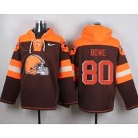 Nike Browns #80 Dwayne Bowe Brown Player Pullover NFL Hoodie