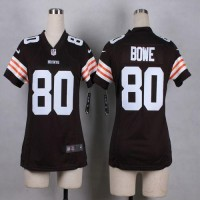 Nike Browns #80 Dwayne Bowe Brown Team Color Women's Stitched NFL Elite Jersey