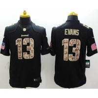 Nike Buccaneers #13 Mike Evans Black Men's Stitched NFL Limited Salute to Service Jersey