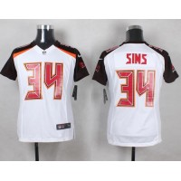 Nike Buccaneers #34 Charles Sims White Youth Stitched NFL New Elite Jersey