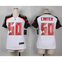 Nike Buccaneers #50 Bruce Carter White Women's Stitched NFL New Elite Jersey