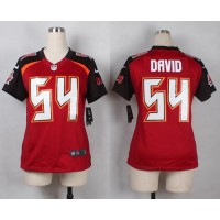 Nike Buccaneers #54 Lavonte David Red Team Color Women's Stitched NFL New Elite Jersey
