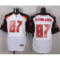 Nike Buccaneers #87 Austin Seferian-Jenkins White Men's Stitched NFL New Elite Jersey