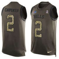 Nike Buffalo Bills #2 Dan Carpenter Green Men's Stitched NFL Limited Salute To Service Tank Top Jersey