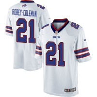 Nike Buffalo Bills #21 Nickell Robey-Coleman White Men's Stitched NFL Limited Jersey