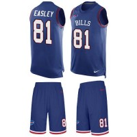Nike Buffalo Bills #81 Marcus Easley Royal Blue Team Color Men's Stitched NFL Limited Tank Top Suit Jersey