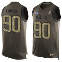 Nike Buffalo Bills #90 Shaq Lawson Green Men's Stitched NFL Limited Salute To Service Tank Top Jersey