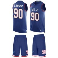 Nike Buffalo Bills #90 Shaq Lawson Royal Blue Team Color Men's Stitched NFL Limited Tank Top Suit Jersey