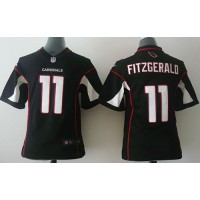 Nike Cardinals #11 Larry Fitzgerald Black Alternate Youth Stitched NFL Elite Jersey