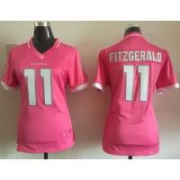 Nike Cardinals #11 Larry Fitzgerald Pink Women's Stitched NFL Elite Bubble Gum Jersey