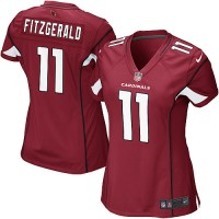 Nike Cardinals #11 Larry Fitzgerald Red Team Color Women's NFL Game Jersey