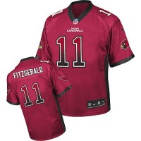 Nike Cardinals #11 Larry Fitzgerald Red Team Color Youth Stitched NFL Elite Drift Fashion Jersey