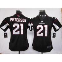 Nike Cardinals #21 Patrick Peterson Black Alternate Women's Stitched NFL Elite Jersey