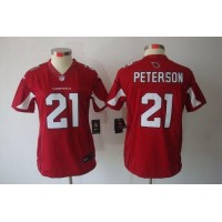 Nike Cardinals #21 Patrick Peterson Red Team Color Women's Stitched NFL Limited Jersey