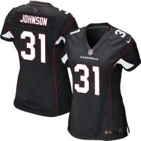 Nike Cardinals #31 David Johnson Black Alternate Women's Stitched NFL Elite Jersey