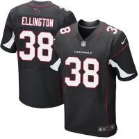 Nike Cardinals #38 Andre Ellington Black Alternate Men's Stitched NFL Elite Jersey