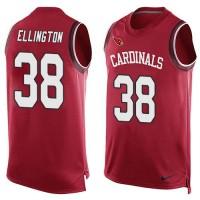 Nike Cardinals #38 Andre Ellington Red Team Color Men's Stitched NFL Limited Tank Top Jersey