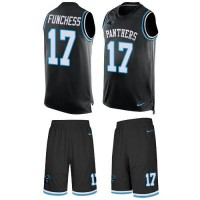 Nike Carolina Panthers #17 Devin Funchess Black Team Color Men's Stitched NFL Limited Tank Top Suit Jersey