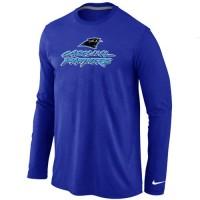 Nike Carolina Panthers Authentic Logo Long Sleeve T-Shirt Blue